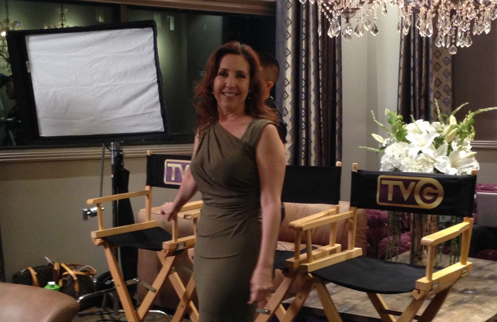 Jacquie Jodan On Set